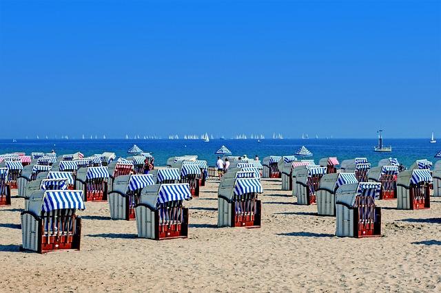 buňky na pláži