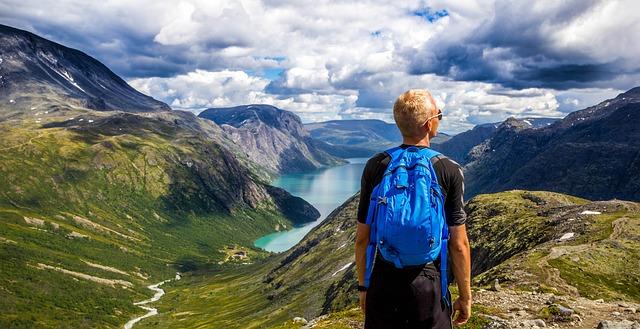 na cestách v Norsku