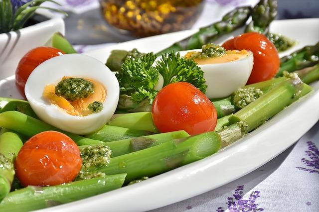 chřest s vejci