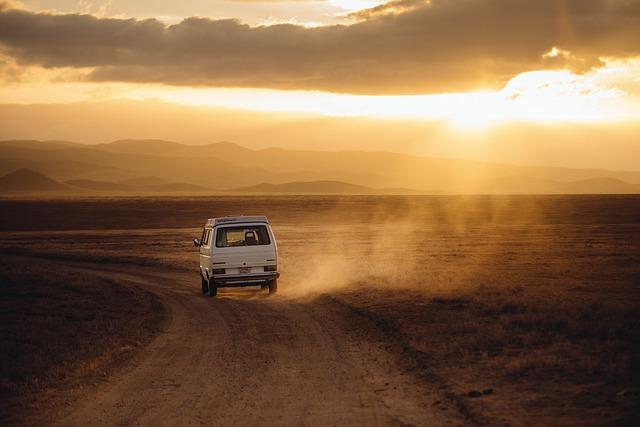 volkswagen v poušti