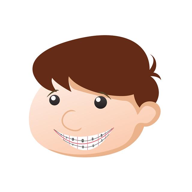 chlapec s rovnátky
