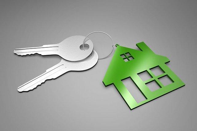 klíče od domu, zelená klíčenka