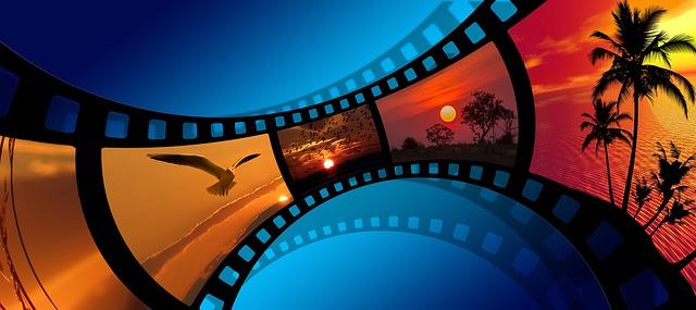 fotky západu slunce na filmu