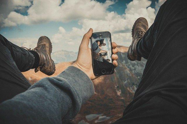 focení přes mobil